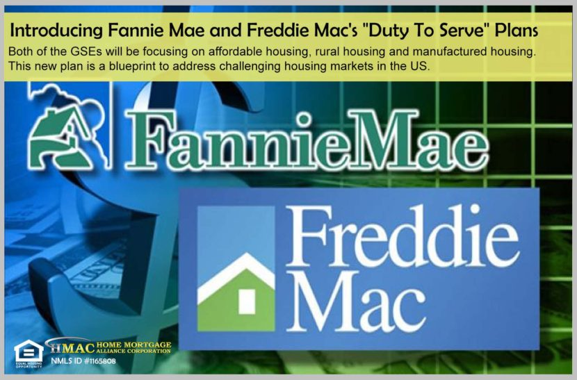 Introducing Fannie Mae and Freddie Mac's Duty To Serve Plan