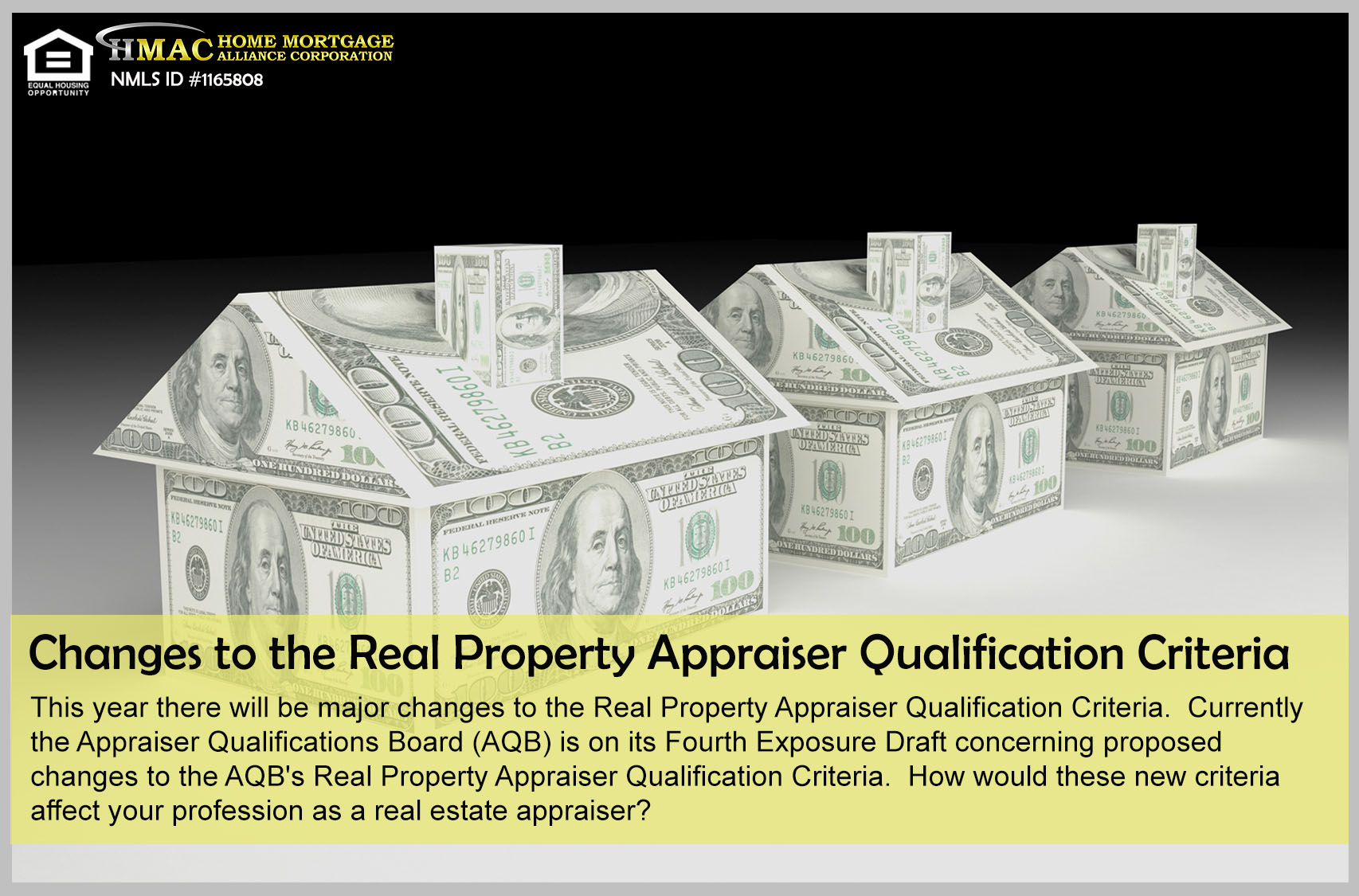 Changes to the Real Property Appraiser Qualification Criteria