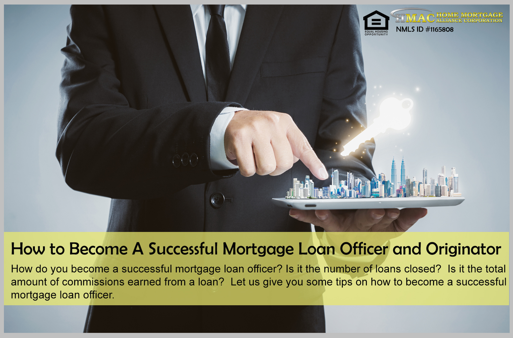 How to become a successful mortgage loan officer and originator