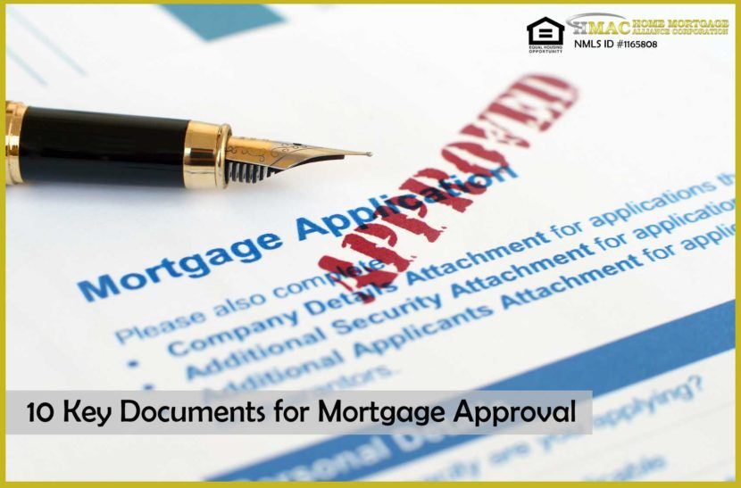10 key documents for mortgage approval