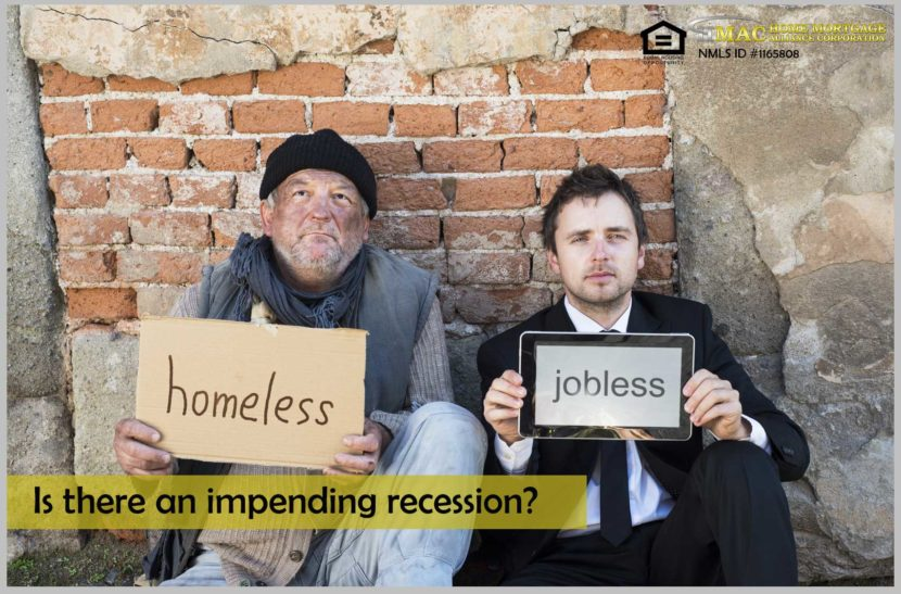 impending recession in the United States