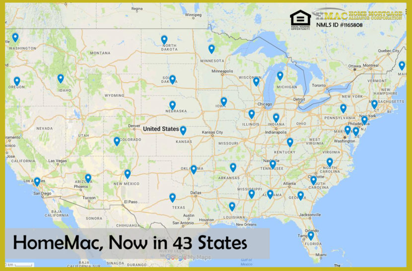 homemac now in 43 states