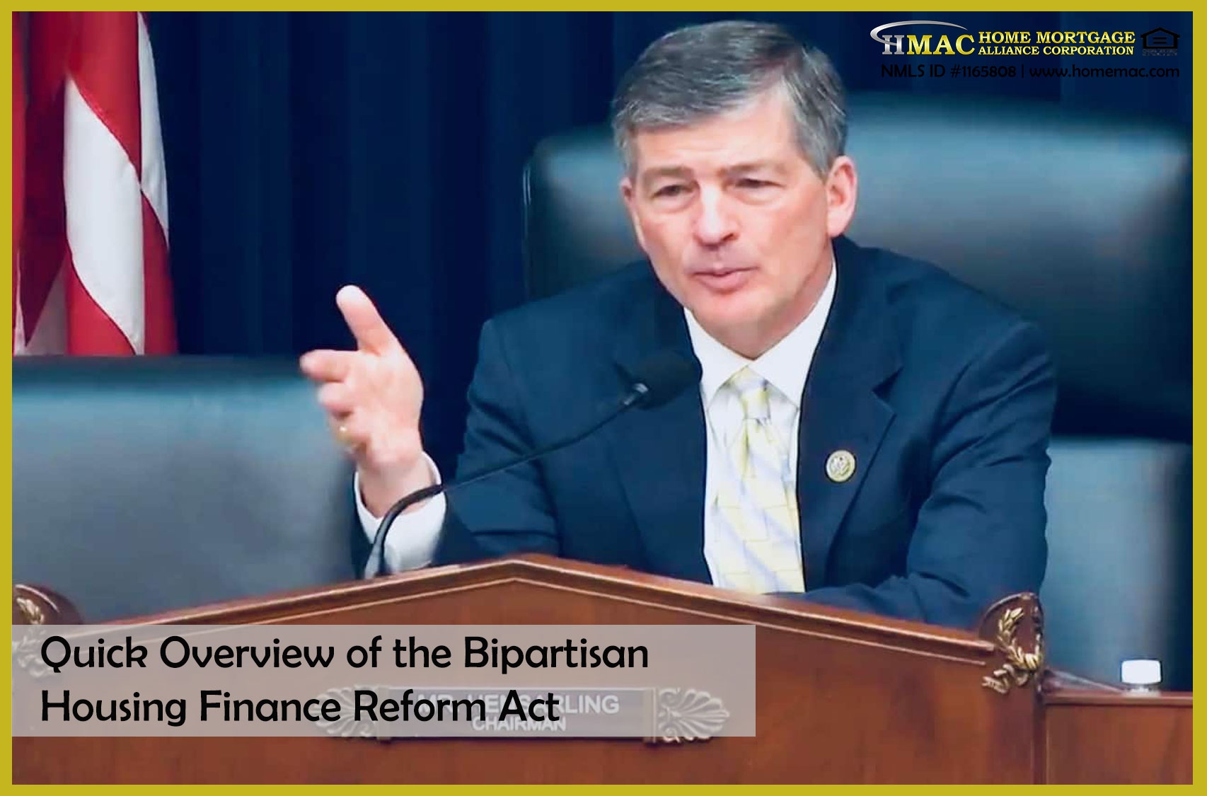 quick overview bipartisan housing finance reform act