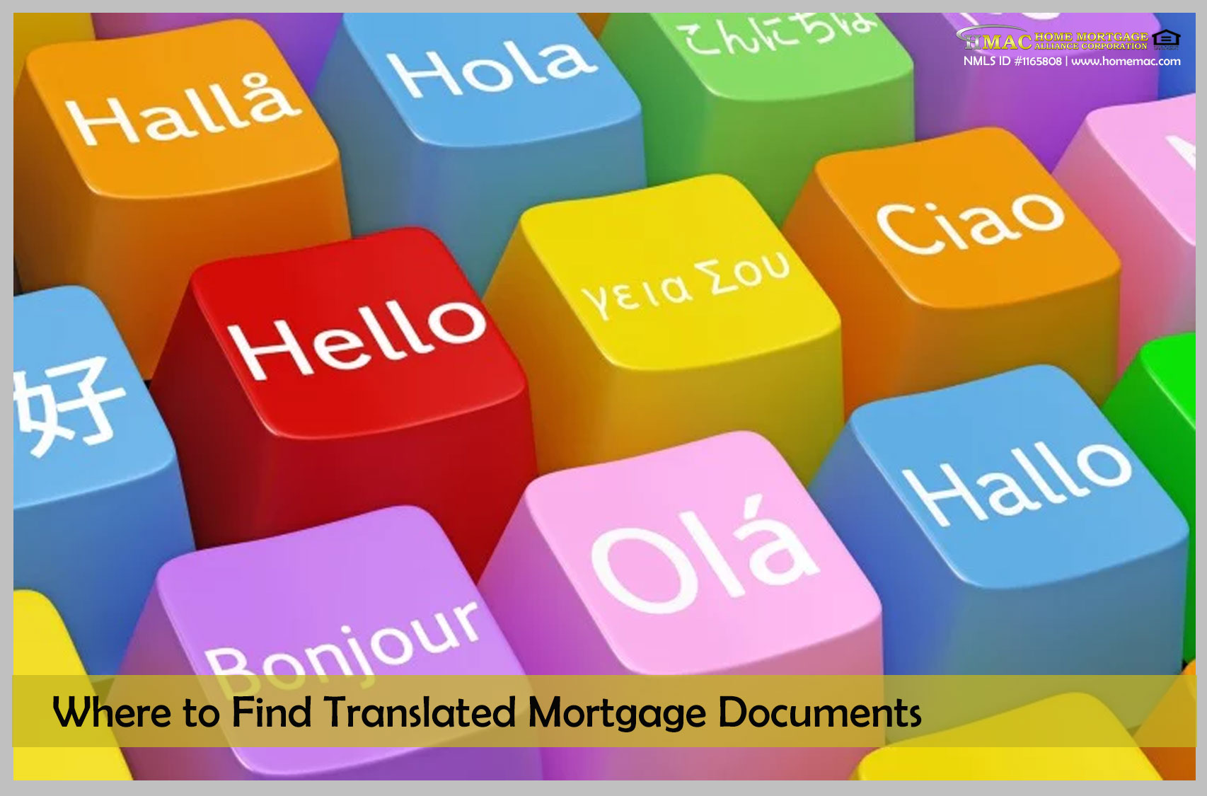 Where to find translated mortgage documents