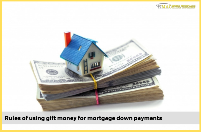 Rules of using gift money for mortgage down payments