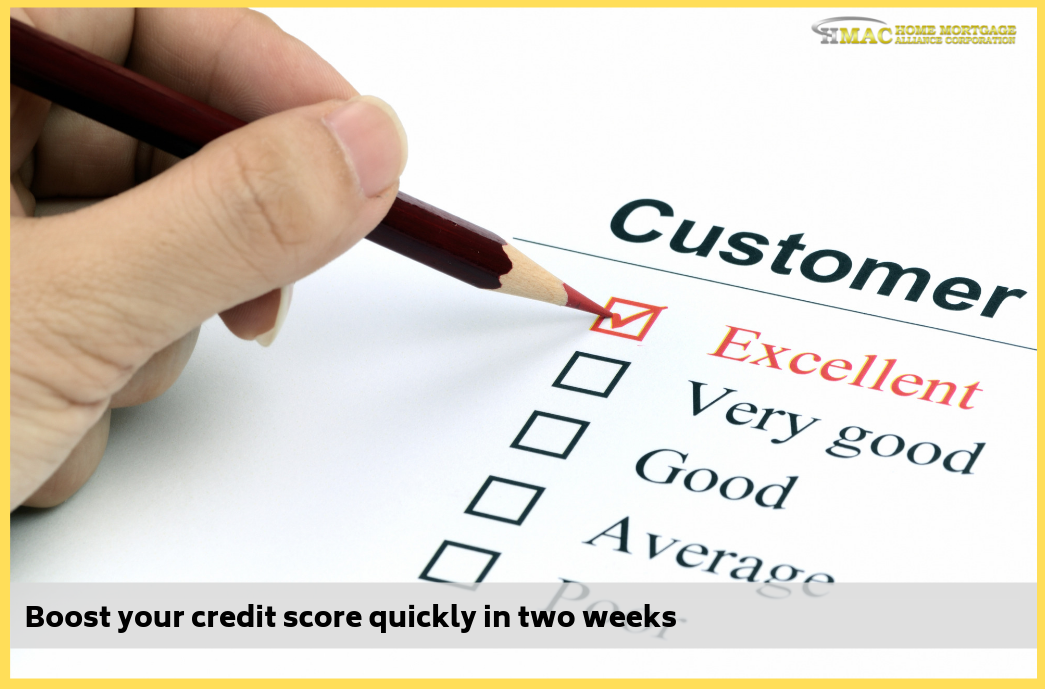 Boost your credit score quickly in two weeks