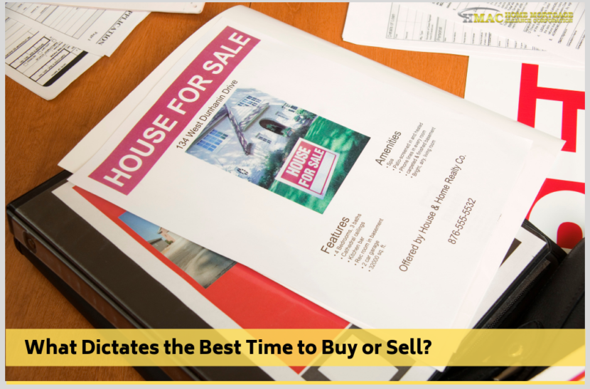 What Dictates the Best Time to Buy or Sell?
