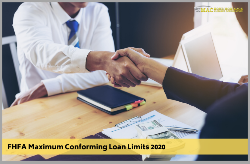 FHFA Maximum Conforming Loan Limits 2020