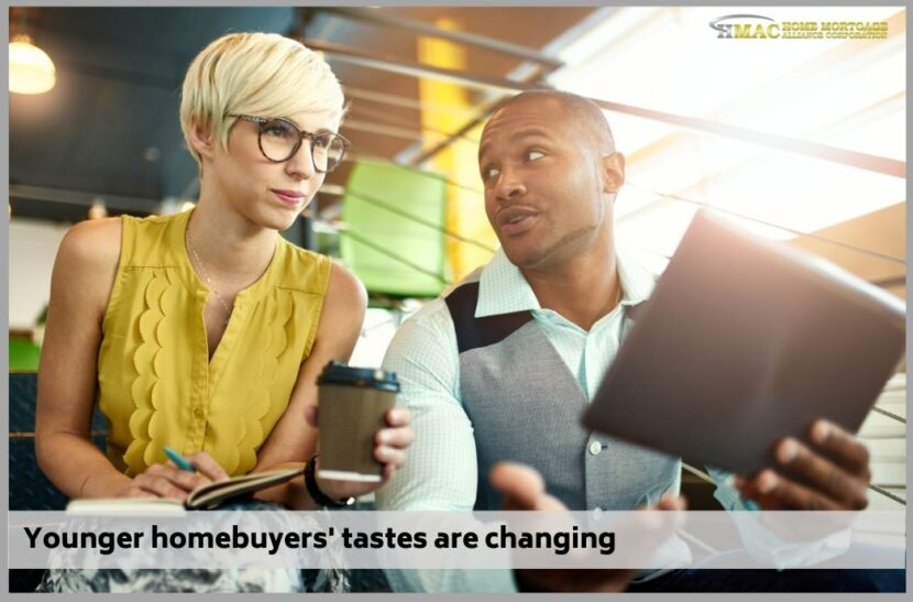 Younger homebuyers' tastes are changing